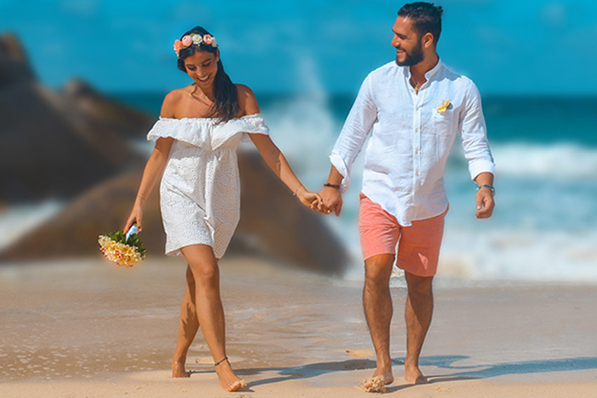 Wedding UAE cabin crew in Seychelles